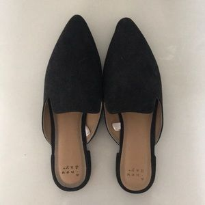 A New Day black flat slip ons